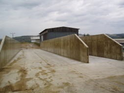 ZD Krásná Hora: Novostavba silážních žlabů